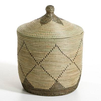 Large Louna Rice Straw Basket, Height 60cm Large Louna Rice Straw Basket, Height 60cm AM.PM