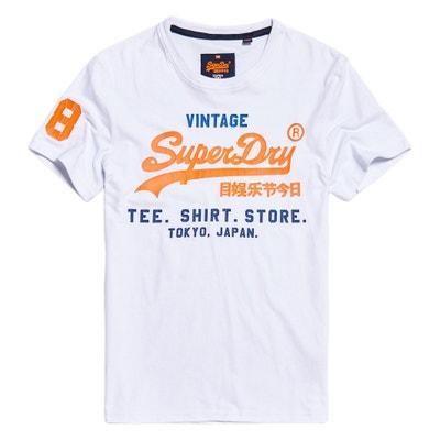 T-shirt col rond manches courtes imprimé devant SUPERDRY