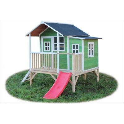 Maison bois pour enfant Loft 350 vert Maison bois pour enfant Loft 350 vert EXIT  TOYS 7e6d17a90004