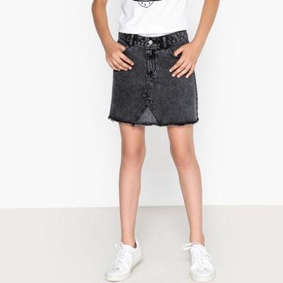 Jupe courte denim noire 10-16 ans Jupe courte denim noire 10-16 ans La Redoute Collections
