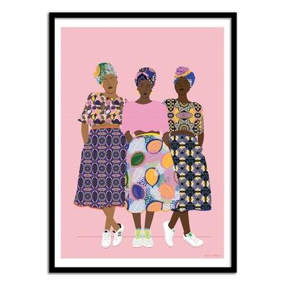 Affiche art 50x70 cm - Fashion Illustration - GRLZ BAND WALL EDITIONS