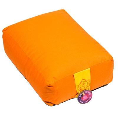 Épais coussin orange - méditation et yoga Chakra 2 CBK 2ab8cc268ef