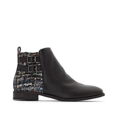 Boots, Materialmix, doppelte Schnallen Boots, Materialmix, doppelte Schnallen La Redoute Collections