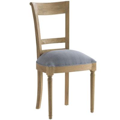 Chaise en bois grise