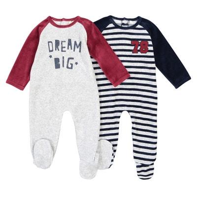 Pijama de terciopelo (lote de 2), 0 meses - 3 años Pijama de terciopelo (lote de 2), 0 meses - 3 años La Redoute Collections