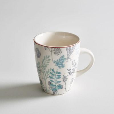 Lot 4 mugs motif herbier, ERBAL Lot 4 mugs motif herbier, ERBAL LA REDOUTE INTERIEURS