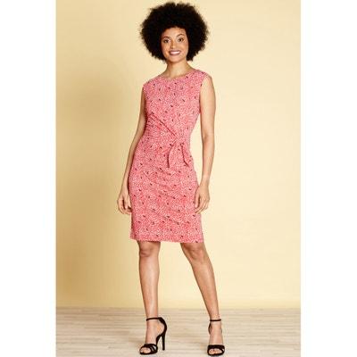 Платье расклешенное средней длины с анималистическим рисунком Платье расклешенное средней длины с анималистическим рисунком YUMI