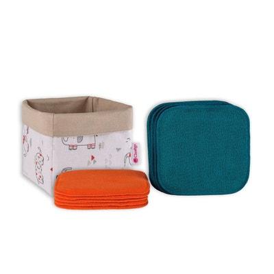 Coffret de lingettes lavables pour enfants avec box ELEFUN Coffret de lingettes lavables pour enfants avec box ELEFUN CLARANGE