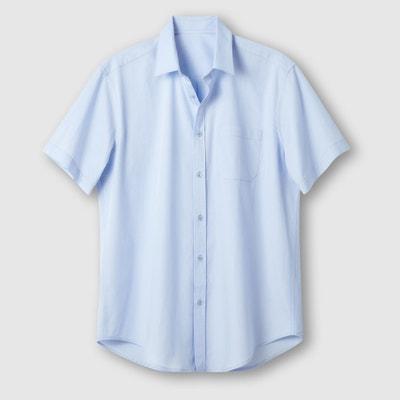 Camisa em popelina, mangas curtas, estatura 3 Camisa em popelina, mangas curtas, estatura 3 CASTALUNA FOR MEN