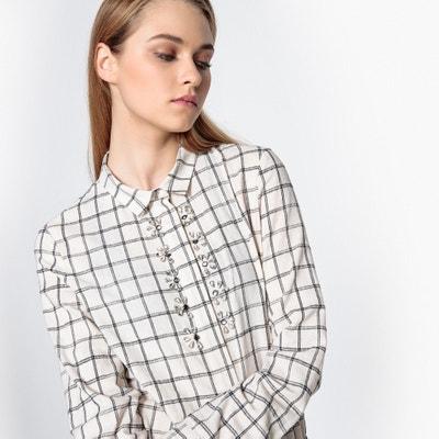 Checked Jewelled Shirt SUNCOO