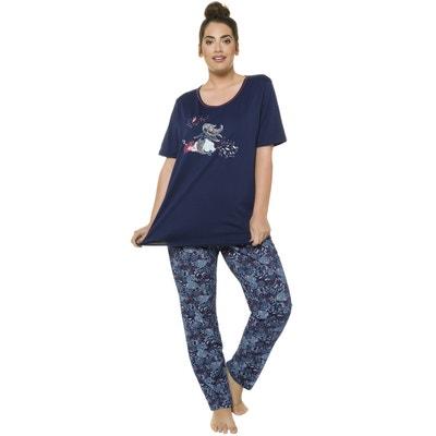 Printed Cotton Short-Sleeved Pyjamas ULLA POPKEN