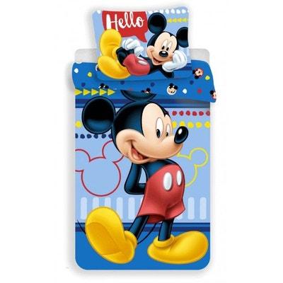 Mickey Hello - Parure de Lit Enfant - Housse de Couette Coton Mickey Hello - Parure de Lit Enfant - Housse de Couette Coton MICKEY