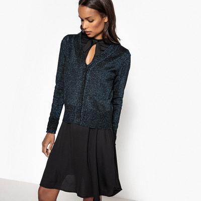 Casaco com decote em V, algodão Casaco com decote em V, algodão La Redoute Collections