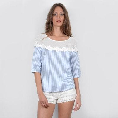 Short-Sleeved Printed Round Neck Blouse MOLLY BRACKEN
