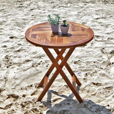 Table de jardin ronde avec rallonge en solde | La Redoute