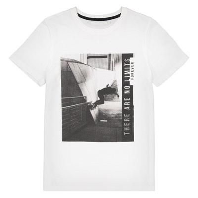 T-Shirt mit rundem Ausschnitt und Foto-Print, 10-16 Jahre La Redoute Collections