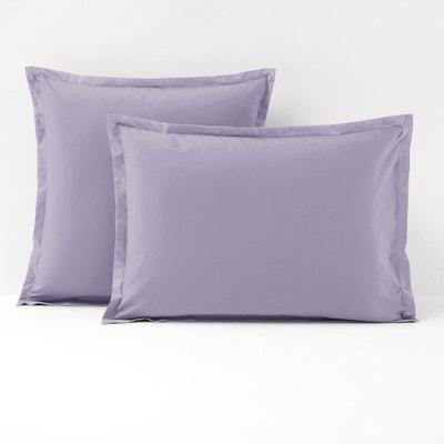 Plain 100% Cotton Percale Single Pillowcase Plain 100% Cotton Percale Single Pillowcase La Redoute Interieurs