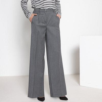 """Wide Leg Wool Trousers, Length 29.5"""" Wide Leg Wool Trousers, Length 29.5"""" ANNE WEYBURN"""