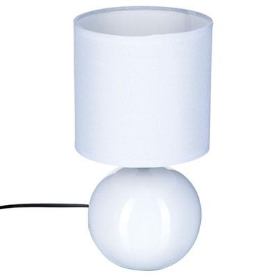 Lampe Boule en céramique - H. 25 cm ATMOSPHERA