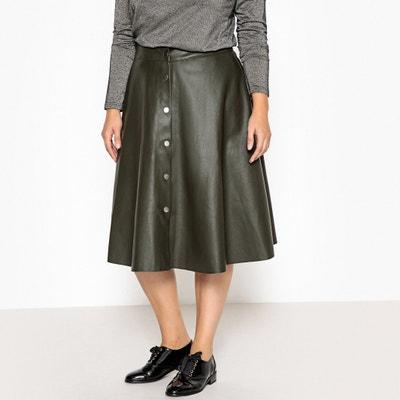 Flared Faux Leather Midi Skirt Flared Faux Leather Midi Skirt CASTALUNA PLUS SIZE