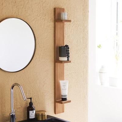 etagre murale de salle de bain verticale en bois de teck bahya etagre murale de salle