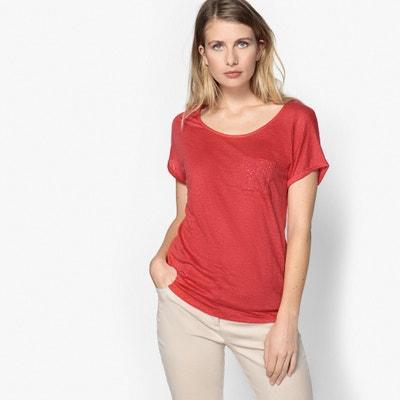 Camiseta con cuello redondo, 100% lino Camiseta con cuello redondo, 100% lino ANNE WEYBURN