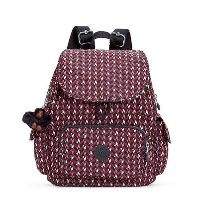 Petit sac à dos City Pack S 33.5cm Pink chevron KIPLING