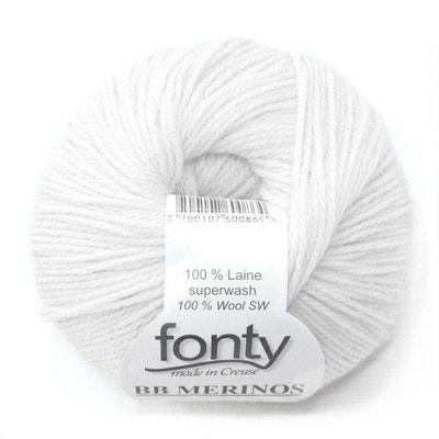 Laine à Tricoter Bb Merinos De Fonty, Col. Blanc Parfait 855 LA MERCERIE PARISIENNE