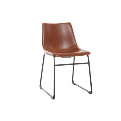 chaise vintage marron en solde la redoute. Black Bedroom Furniture Sets. Home Design Ideas