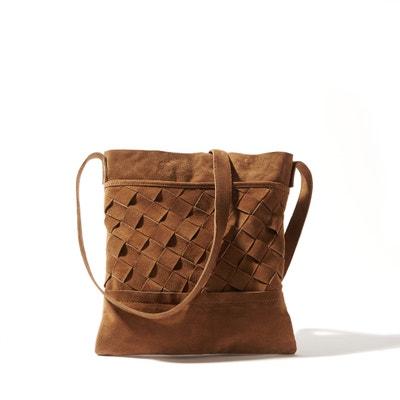 Woven Leather Handbag La Redoute Collections