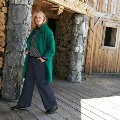 Cappotto media lunghezza, 44% lana, chiusura con bottoni Cappotto media lunghezza, 44% lana, chiusura con bottoni CASTALUNA