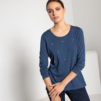 Beaded Cotton/Modal T-Shirt Beaded Cotton/Modal T-Shirt ANNE WEYBURN