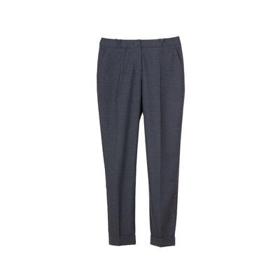 Pantalon slim taille basse en laine pour femme tenue business bureau  Pantalon slim taille basse en. SUNDAY LIFE fa4a24b37fb4