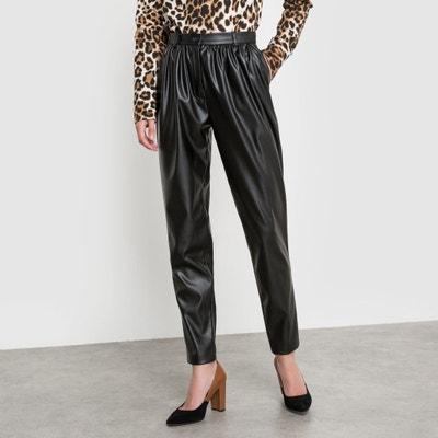 Pantalón de piel sintética Pantalón de piel sintética Isabelle Thomas x La Redoute