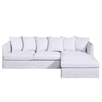 Canapé d'angle fixe Neo Chiquito, lin épais Canapé d'angle fixe Neo Chiquito, lin épais AM.PM