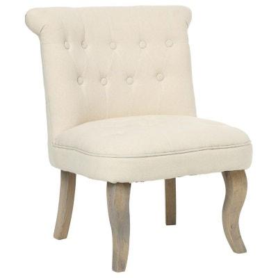 Petit fauteuil capitonne