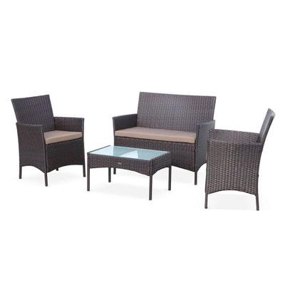 Ensemble canape et fauteuil de jardin en solde | La Redoute