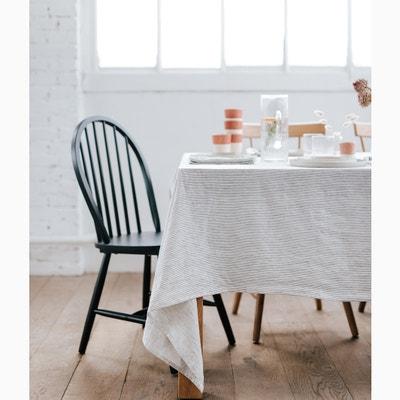 Gestreept tafellaken in gewassen linnen Gestreept tafellaken in gewassen linnen HELLO BLOGZINE X LA REDOUTE