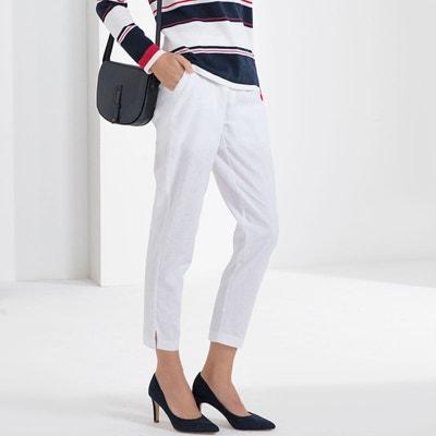 Pantalon droit 7 8ème, lin et coton Pantalon droit 7 8ème, lin c63fb3fbf576