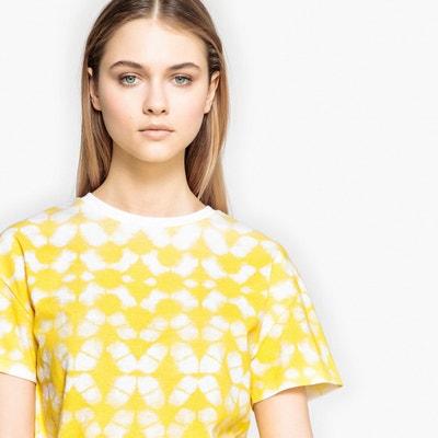 T-shirt com estampado tie & dye, gola redonda, mangas curtas T-shirt com estampado tie & dye, gola redonda, mangas curtas La Redoute Collections