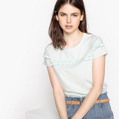 T-shirt met ronde hals en korte mouwen met volant T-shirt met ronde hals en korte mouwen met volant MADEMOISELLE R