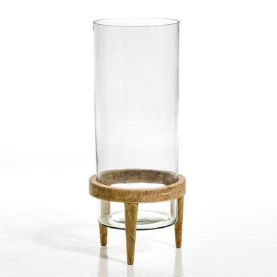 Terrarium Bocage verre et manguier, diamètre 25,5 cm Terrarium Bocage verre et manguier, diamètre 25,5 cm AM.PM.