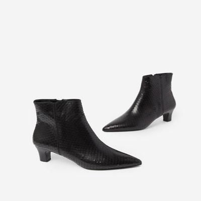 Leder-Boots mit kleinem Absatz Leder-Boots mit kleinem Absatz THE KOOPLES
