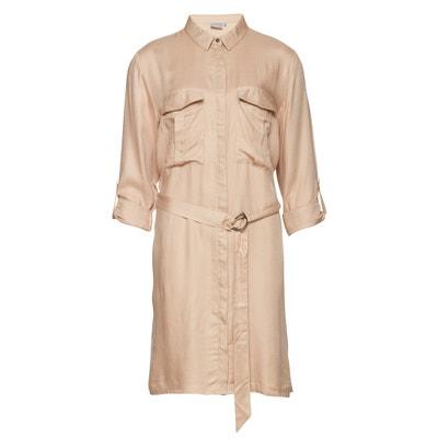 Платье с короткими рукавами и рубашечным воротником Платье с короткими рукавами и рубашечным воротником B.YOUNG