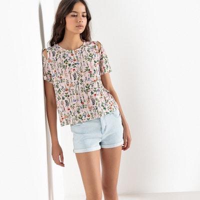 Tee shirt col rond imprimé floral, manches courtes Tee shirt col rond imprimé floral, manches courtes La Redoute Collections