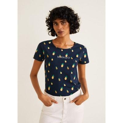 T-shirt femme Mango en solde   La Redoute 2d032bbde555