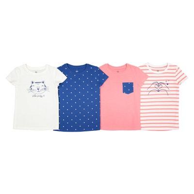 T-shirts estampadas 3-12 anos, lotes de 4 T-shirts estampadas 3-12 anos, lotes de 4 La Redoute Collections