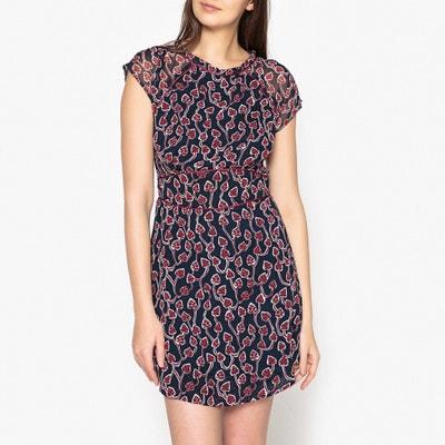 Ausgestelltes Kleid mit Print-Muster Ausgestelltes Kleid mit Print-Muster IKKS