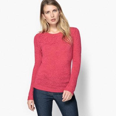 Sweter z okrągłym dekoltem, z dzianiny ANNE WEYBURN