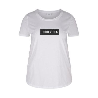 T-shirt z okrągłym dekoltem i napisem T-shirt z okrągłym dekoltem i napisem ZIZZI